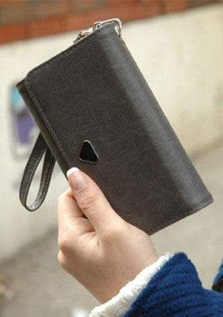 Solid Color PU Leather Wallet