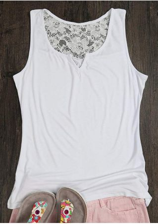 Solid Lace Floral Tank