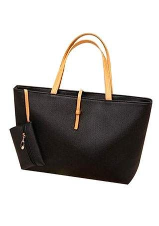 Zipper PU Leather Shoulder Bag