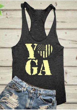 Yoga American Flag Printed Tank