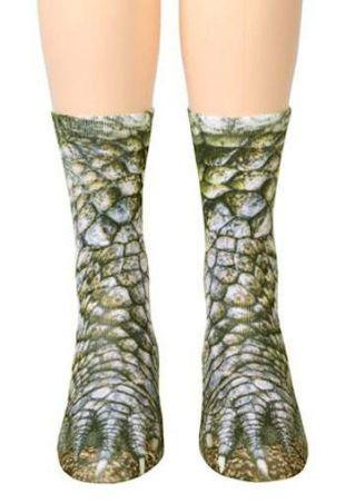Alligator Feet Simulation Crew Socks