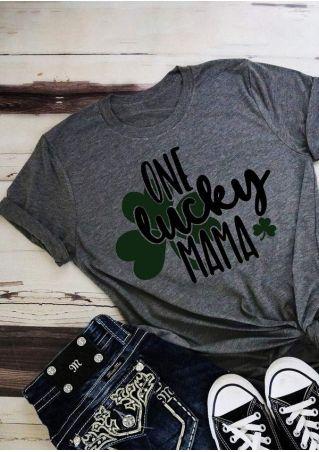 One Lucky Mama Shamrock T-Shirt