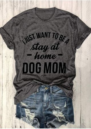 Dog Mom O-Neck Short Sleeve T-Shirt
