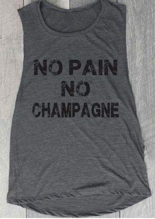 No Pain No Champagne Tank