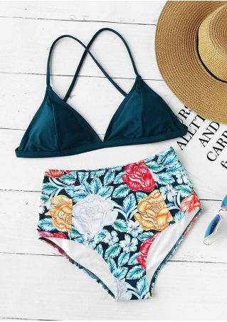 Floral High Waist Bikini Set