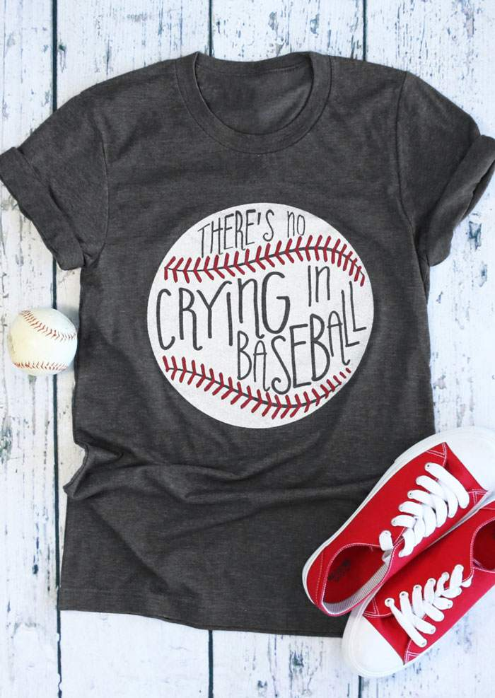 ceeeaae2 There's No Crying In Baseball T-Shirt - Bellelily