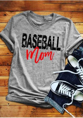 Baseball Mom O-Neck T-Shirt