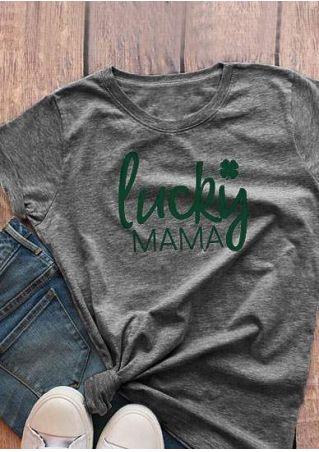 Lucky Mama Shamrock T-Shirt
