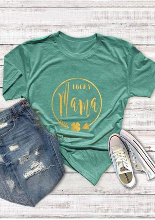Lucky Boy Mama Arrow T-Shirt