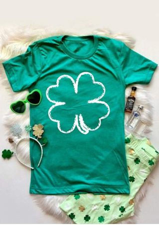 Four-Leaf Clover O-Neck T-Shirt
