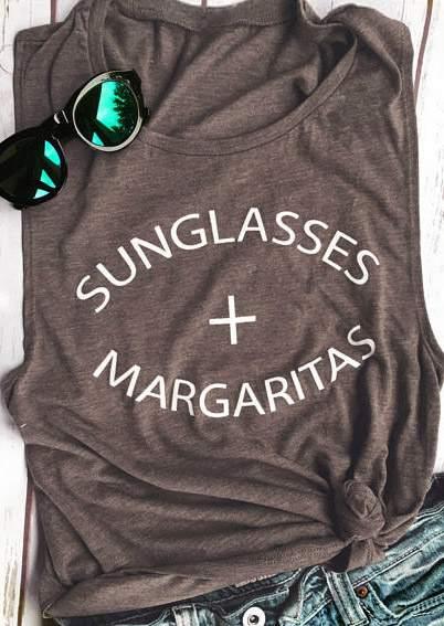 Sunglasses Margaritas O-Neck Tank 44712