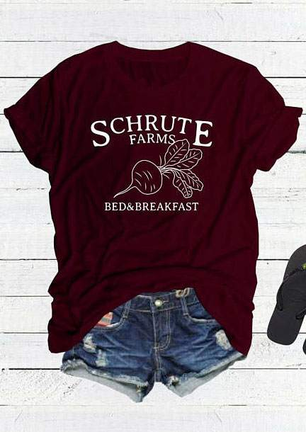 82aed74dc Schrute Farms Bed & Breakfast T-Shirt - Bellelily