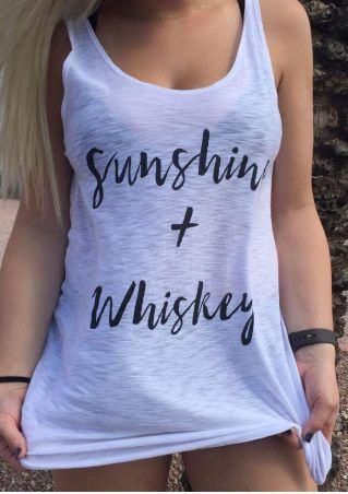 Sunshine + Whiskey Tie Tank without Necklace
