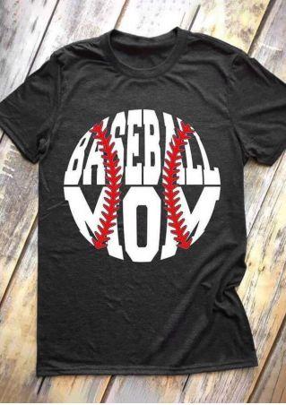 Baseball Mom O-Neck T-Shirt