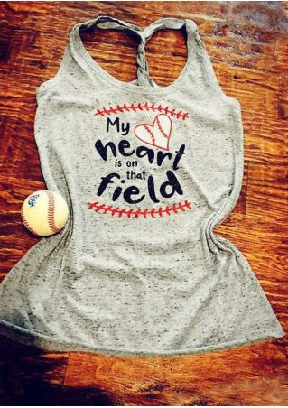 My Heart Is On That Field Baseball Tank