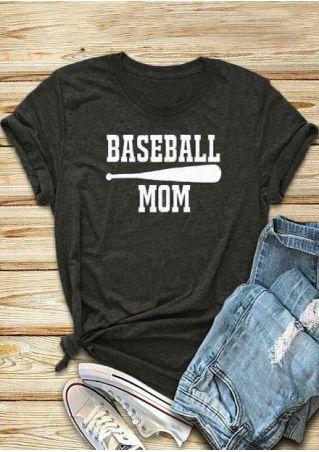 Baseball Mom Baseball Bat T-Shirt