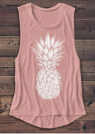 Pineapple Printed Casual Tank
