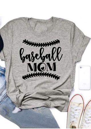 Baseball Mom Heart Short Sleeve T-Shirt