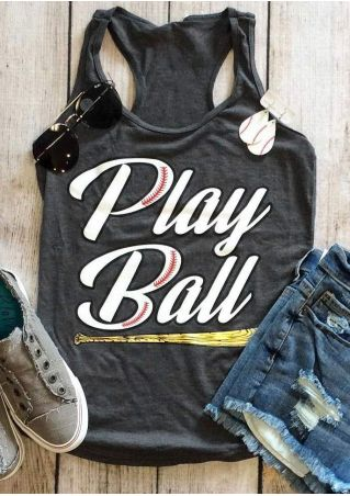 Play Ball Baseball Bat Tank