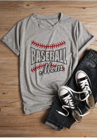 Baseball Mom Short Sleeve T-Shirt
