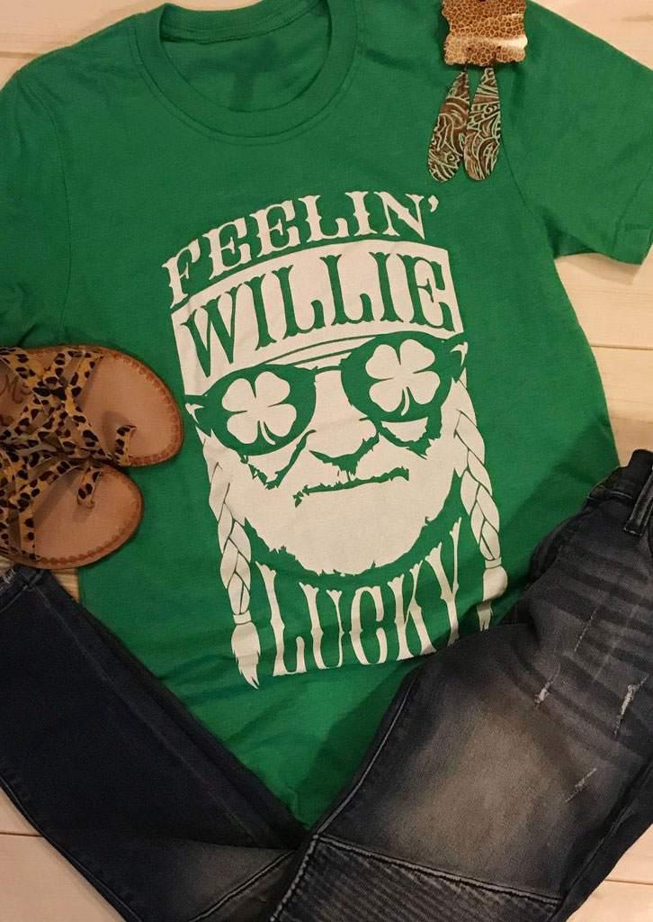 Feelin' Willie Lucky O-Neck T-Shirt