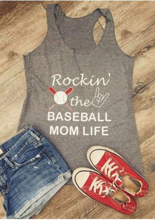 Rockin' The Baseball Mom Life Tank