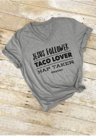 Jesus Follower Taco Lover Nap Taker T-Shirt