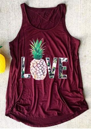 Love Pineapple O-Neck Tank