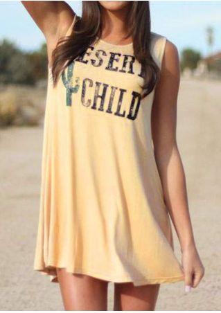 Desert Child Cactus Sleeveless Mini Dress