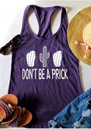 Don't Be A Prick Cactus Tank