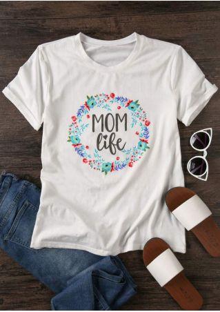 Floral Mom Life Short Sleeve T-Shirt
