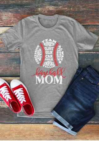 Team Supportin' Baseball Mom T-Shirt