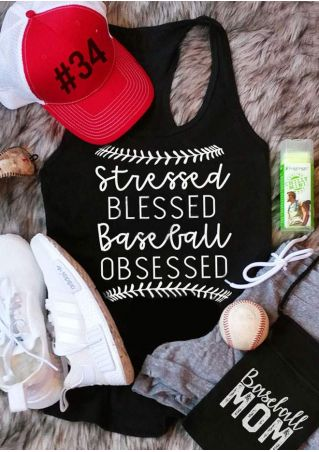 Stressed Blessed Baseball Obsessed Tank