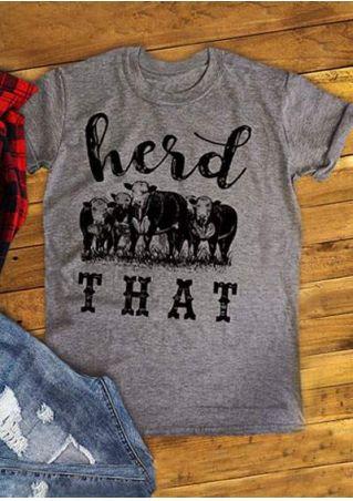 c7e5f189d Herd That Cow Short Sleeve T-Shirt - Bellelily