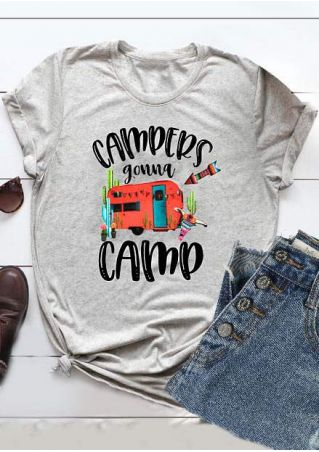 Campers Gonna Camp Car T-Shirt