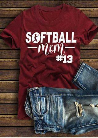 Softball Mom #13 Short Sleeve T-Shirt