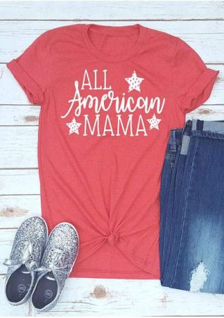 All American Mama Star T-Shirt