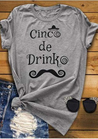 Cinco De Drinko Mustache T-Shirt