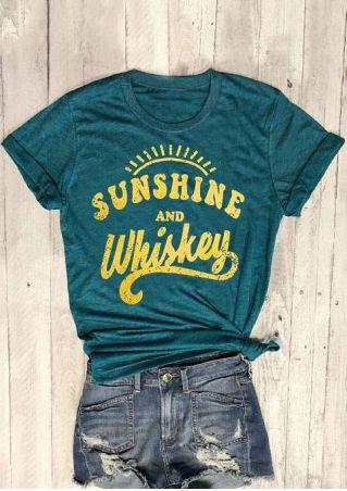 Sunshine And Whisky O-Neck T-Shirt