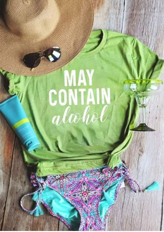 May Contain Alcohol Short Sleeve T-Shirt