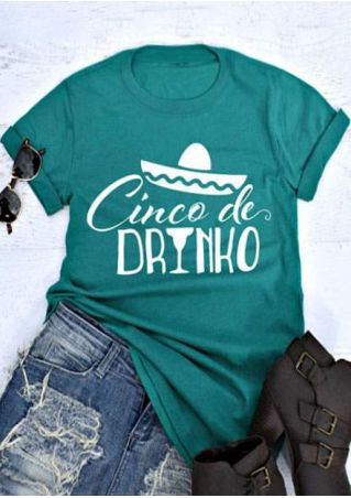 Cinco De Drinko Hat T-Shirt