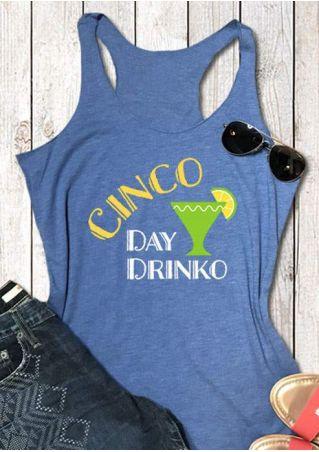Cinco Day Drinko Racerback Tank