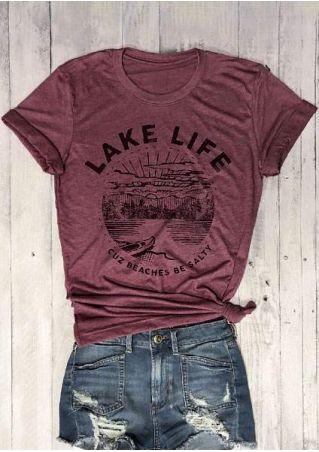 Lake Life Cuz Beaches Be Salty T-Shirt