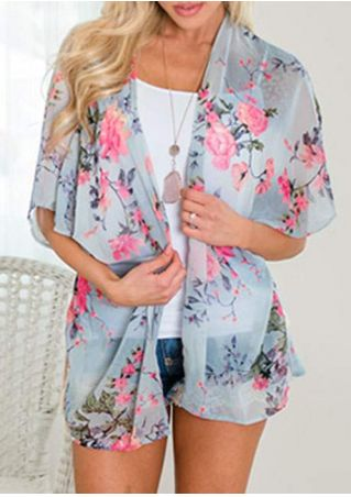 Floral Tassel Splicing Cardigan without Necklace