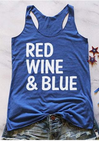 Red Wine & Blue Racerback Tank