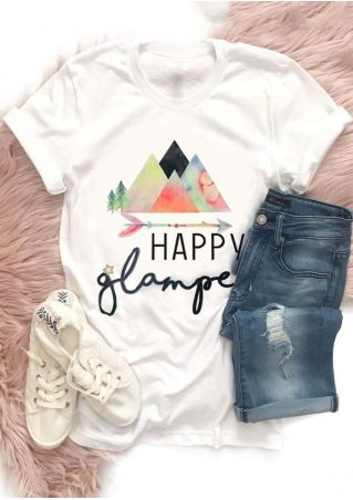 Happy Glamper Mountain Arrow T-Shirt