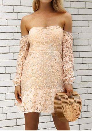 Lace Floral Off Shoulder Mini Dress