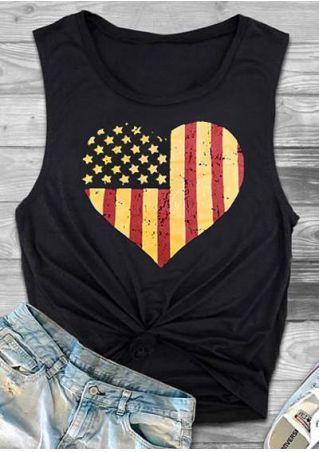 Heart American Flag Tank
