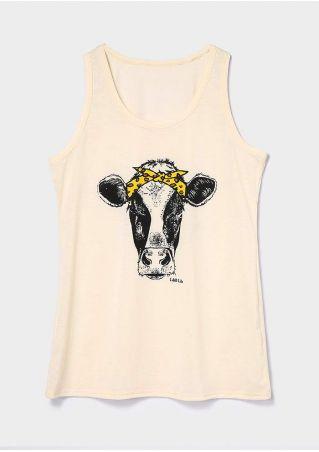 Cow Headband Racerback Tank