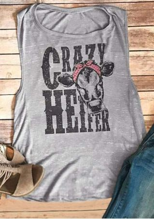 Crazy Heifer Headband Tank